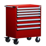 Mobile Drawer Cabinet Rousseau Heavy Duty R5BEE-3804 Flame Red