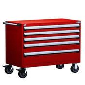 Mobile Drawer Cabinet Rousseau Heavy Duty R5BHE-3012 Flame Red