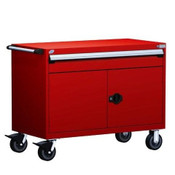 Mobile Drawer Cabinet Rousseau Heavy Duty R5BHE-3014 Flame Red