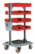 """Multi-Purpose Stand, Assembly Parts, Mobile, 32"""" x 27"""" x 59"""" high"""