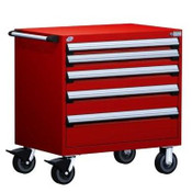 Mobile Drawer Cabinet Rousseau Heavy Duty R5BEE-3004 Flame Red
