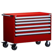 Mobile Drawer Cabinet Rousseau Heavy Duty R5BHE-3002 Flame Red