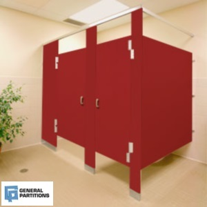 Bathroom Stalls Which Toilet Partition Material Is Right For Your - Solid plastic bathroom partitions