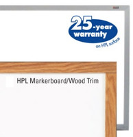 Marsh HPL (High Pressure Laminate) White Dry Erase Marker Boards. Affordable. Price depends on Size and Trim