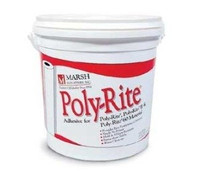 Marsh Poly-Rite Adhesive. 1 or 4 gallon size