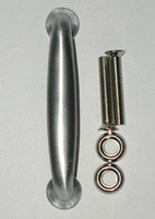 Door Pull, Bolt-On. In Aluminum or Polished Brass #3405