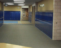 Standard Single Tier Corridor Lockers.