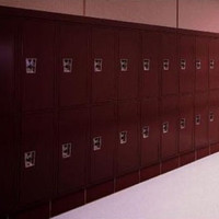 "Two Tier ""Quiet"" Corridor Lockers."