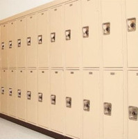 Two Tier Single Point Corridor Lockers