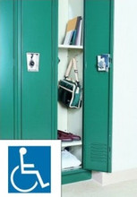 Corridor Locker configured to meet ADA standards.