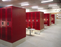 Single Tier Heavy Duty Athletic Lockers.