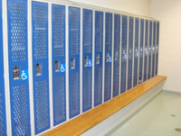 Steel Athletic Lockers require only minor modifications to make them ADA Compliant.
