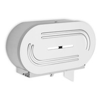 Toilet tissue dispenser for restrooms. Jumbo rolls. Stainless steel Not controlled