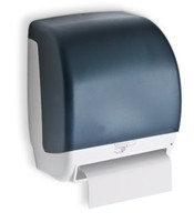 Battery operated paper towel dispenser. Non-perforated roll