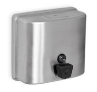 Liquid Soap or Hand Sanitizer Dispenser. Stainless Steel. ADA Compliant