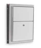 Partition Mounted Sanitary Disposal for Restrooms. Stainless Steel