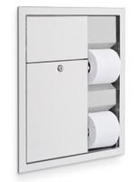 Toilet Tissue Dispenser / Sanitary Waste Disposal. Stainless Steel