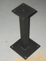 Aluminum Bench Pedestal. Black Powder Coat. #SAP17