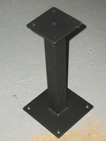 aluminum bench pedestal black powder coat sap17 - Locker Room Benches