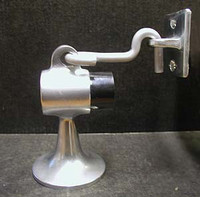 "Door Stop / Door Holder, For Wood Floors. Aluminum. 3-1/2"" Base. 2-1/4"" Diameter. #3209"