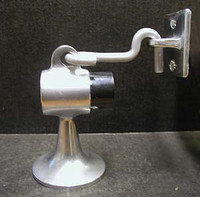 Door Stop / Door Holder, For Concrete or Tile Floors. Aluminum. #3210