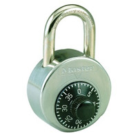 "Master Lock 2002 High Security Combination Padlock. Anti-Shim design, hardened shackle, and stainless steel body! NOT Control Keyed. 1"" shackle for lockers WITHOUT a recessed handle."