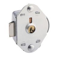 Master Lock 1714KA Built-In Flat Locker Lock. Control Keyed. Spring Bolt action.