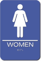 Women's Restroom Sign. ADA Compliant with Braille. #09004
