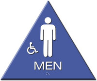 Wheelchair Accessible Men's Restroom Sign California Title 24 Compliant. #09030