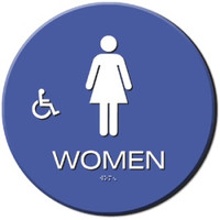 Wheelchair Accessible Women's Restroom Sign California Title 24 Compliant. #09031