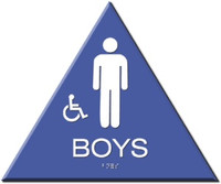 Wheelchair Accessible Boys' Restroom Sign California Title 24 Compliant. #09033