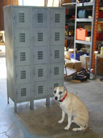 "Used Box Lockers. 5 Tier. Penco. 12"" x 18"" x 12"" (60"" OA) #1218605T"