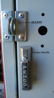 Heavy Duty Hasps. 2 Hasps, 4 Rivets, 1 Padlock - and your locker is fixed! #5001