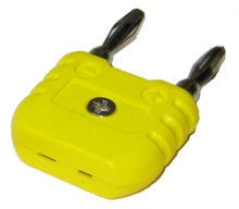 K-type thermocouple adapter. This adaptor allows use to convert from mini thermocouple connector to banana plug connector