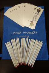 School Blue Day Kit includes 1 drawstring bag, 30 bookmarks, and 30 pencils for spreading awareness!