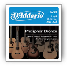 D'Addario 12-String Phosphor Bronze Acoustic Guitar Strings