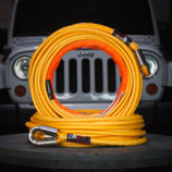 "Limited Edition 9.6mm (3/8"") x 85' Superline XD Yellow Winch Line - 21,700 lbs"