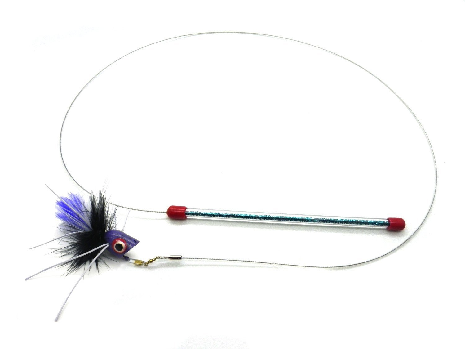 Cat toy teaser wand bugsy kat fly kats 39 n us for Cat wand toys