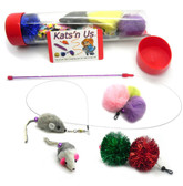 Mouse Teaser Wand Toy & Accessory Refill Kit