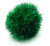 JUMBO Tuff Kitty Puff Sparkle Ball Cat Toy - Pick a Color