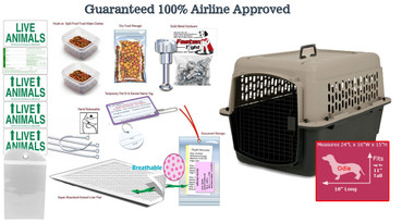 Odie Pet Travel Crate Package