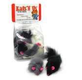 Real Rabbit Fur Long Hair Mouse Cat Toy