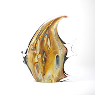 Murano Glass Moon Fish Calcedonia