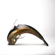 Murano Glass Dolphin Calcedonia