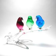 Murano Glass 3 Birds on Branch