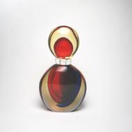 Murano Glass Trentino Bottle Red Blue Amber