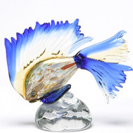 Murano Glass Tropical Fish Murrine Aqua Blue