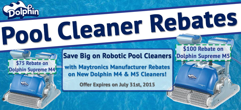 Pool Cleaner Rebates on Maytronics and Dolphin M4 and M5 models