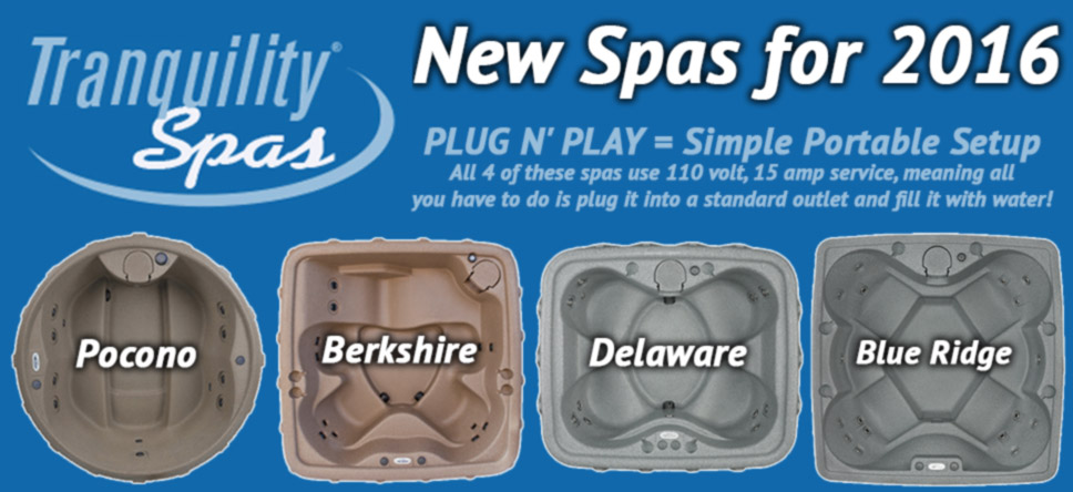 Tranquility Brand Spas for Sale near in NH, MA at E-Z Test Pool Supplies, Inc