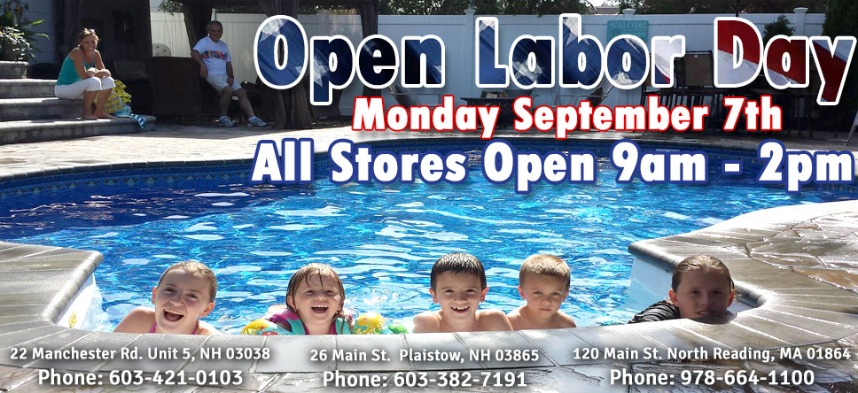 Open on Labor Day from 9 to 2pm